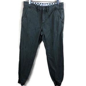 Vans Mens Pants, Green Elastic Size 30